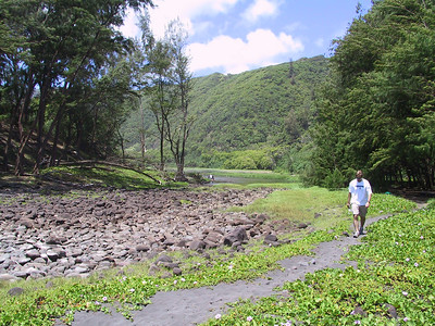 Damon in Pololu Valley   (Jul 15, 2001, 11:10am)