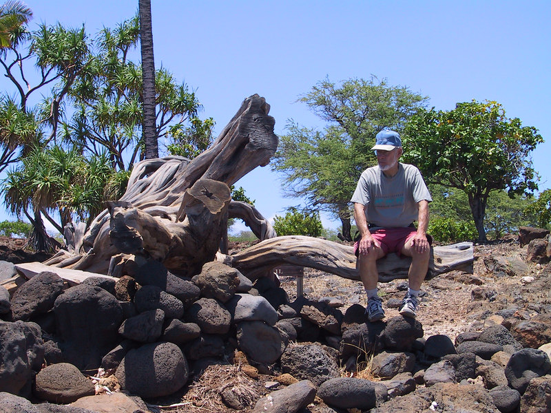 <b>Bill watches swimmers at Lapakahi State Historical Park</b>   (Jul 15, 2001, 01:03pm)