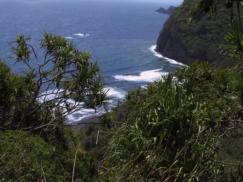 <b>Pololu Beach from trail down</b>   (Jul 15, 2001, 10:50am)