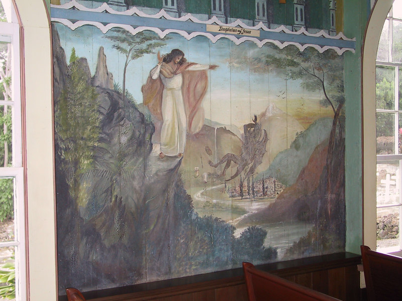 <b>Another wall mural inside the Painted Church</b>   (Jul 16, 2001, 02:30pm)