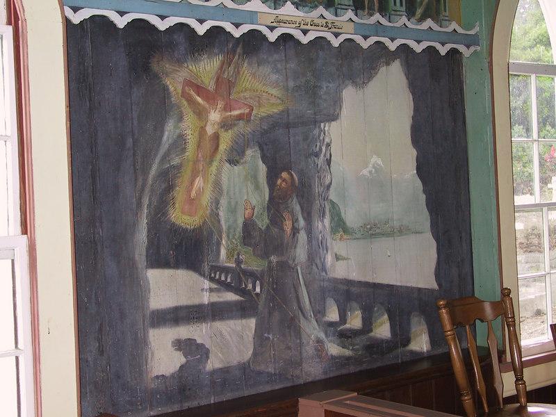 <b>Wall mural inside the Painted Church</b>   (Jul 16, 2001, 02:30pm)