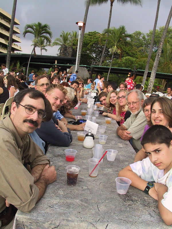 <b>Our group at the luau</b>   (Jul 16, 2001, 05:45pm)