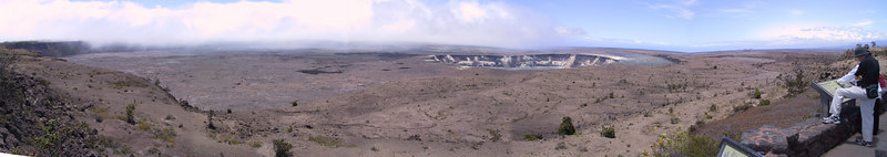 Panorama of Kilauea Caldera seen from Jaggar Museum   (Jul 17, 2001, 11:44am)