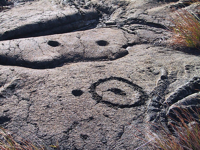 Close up of Puu Loa petroglyphs   (Jul 17, 2001, 04:56pm)