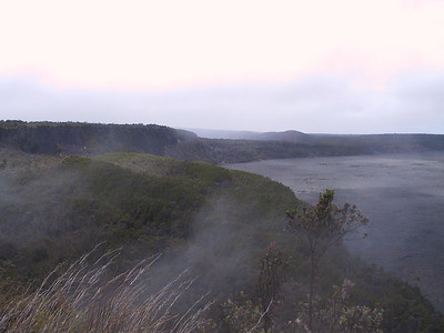Steam rising near Kilauea Caldera   (Jul 17, 2001, 11:16am)
