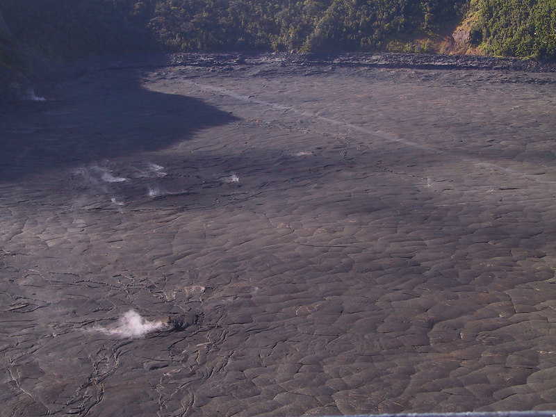 <b>View of east end of Kilauea Iki Trail from above</b>   (Jul 18, 2001, 07:58am)