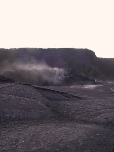 Steam rising along Kilauea Iki Trail   (Jul 18, 2001, 07:07am)