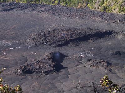 Looking down into Kilauea Iki crater   (Jul 18, 2001, 07:54am)
