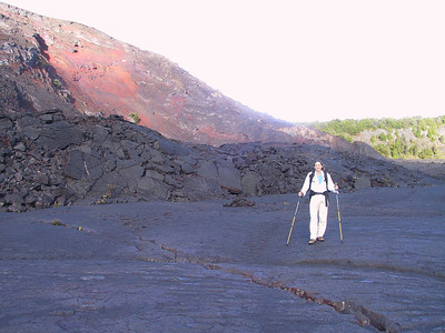 Daphne on the Kilauea Iki Trail   (Jul 18, 2001, 07:10am)