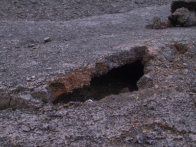 Closeup of surface of Kilauea Iki showing cracked lava floor   (Jul 18, 2001, 06:46am)