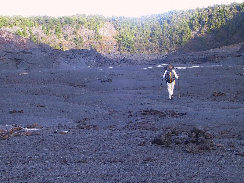 <b>Daphne follows the Kilauea Iki Trail</b>   (Jul 18, 2001, 07:04am)