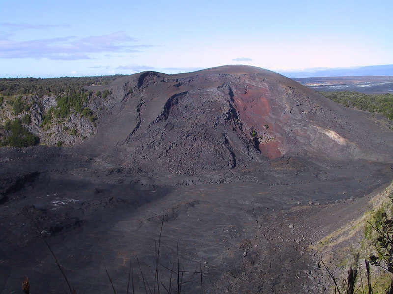 <b>View of south rim of Kilauea Iki crater</b>   (Jul 18, 2001, 08:04am)