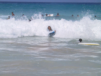Bill tries to boogie board   (Jul 19, 2001, 10:36am)