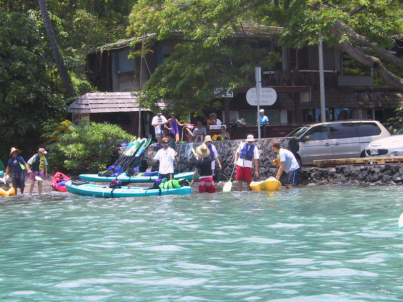 <b>Our group prepares for an afternoon guided kayak trip</b>   (Jul 19, 2001, 12:48pm)