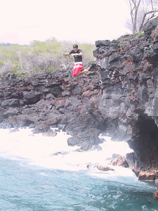 Our kayak guide demonstrates cliff jumping   (Jul 19, 2001, 02:51pm)