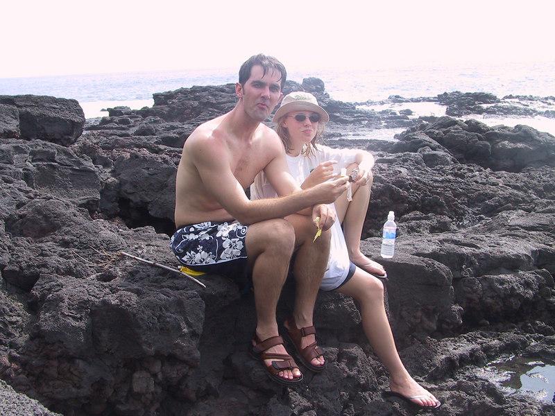 <b>Kevin and Amber duing kayak trip break</b>   (Jul 19, 2001, 03:17pm)