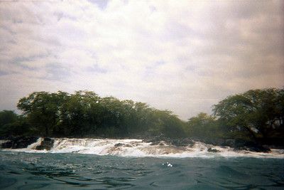Surf cascades over rocks where kayak trip stopped   (Jul 19, 2001, 01:30pm)