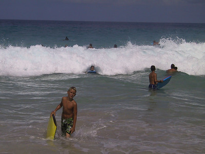 Joel tries to ride this wave into shore   (Jul 19, 2001, 10:01am)