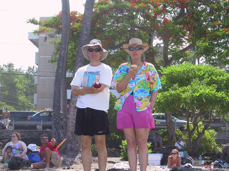 <b>Harold and Kay at White Sands Beach</b>   (Jul 19, 2001, 10:21am)