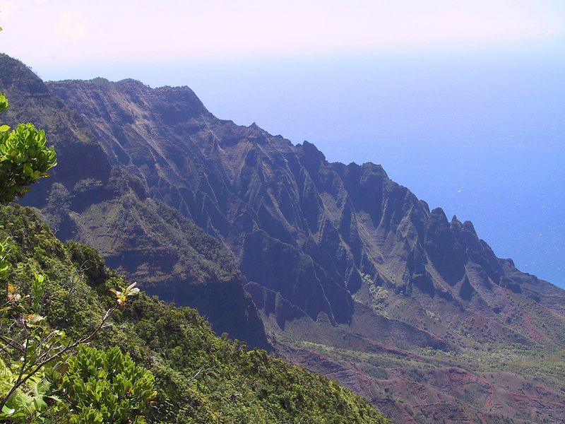 <b>South side of Kalalau Valley from Pihea Trail</b>   (Jul 22, 2001, 02:22pm)