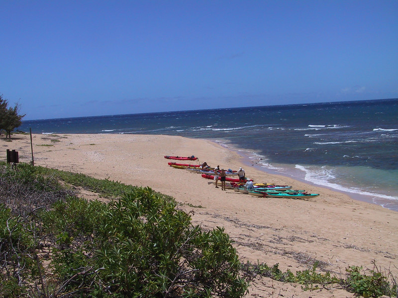 <b>Looking south down Milolii Beach</b>   (Jul 23, 2001, 01:09pm)
