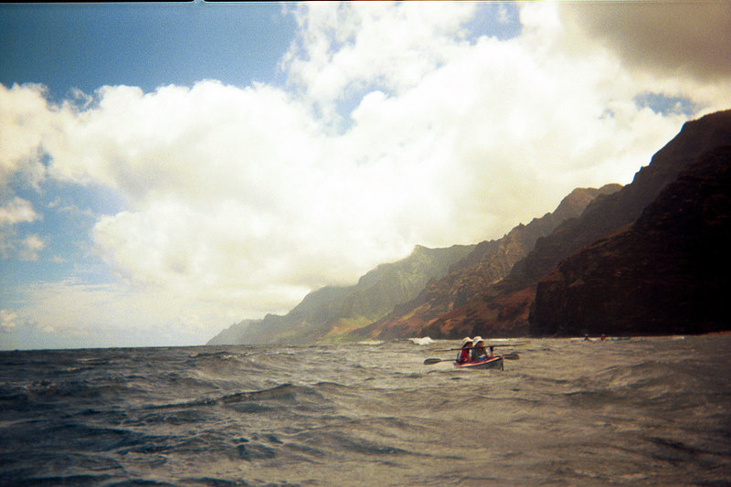 <b>Another view of Na Pali coast seen from kayaks</b>   (Jul 23, 2001, 09:30am)