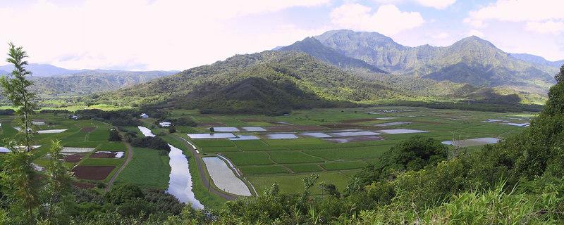 <b>Panorama of view from Hanalei Overlook</b>   (Jul 25, 2001, 09:38am)