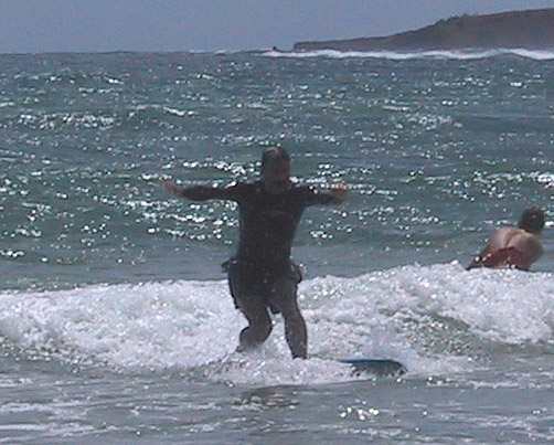 <b>Joel demonstrates proper surfer posture</b>   (Jul 25, 2001, 10:54am)