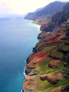 Helicopter view of the Na Pali coast   (Jul 26, 2001, 01:02pm)