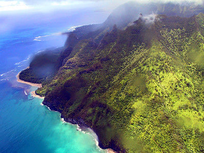 Helicopter view of the north end of the Na Pali coast   (Jul 26, 2001, 01:08pm)