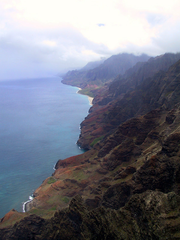 <b>Helicopter view of the Na Pali coast</b>   (Jul 26, 2001, 01:00pm)