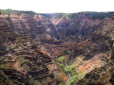 Helicopter view of Waimea Canyon   (Jul 26, 2001, 12:55pm)