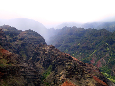 Helicopter view of Waimea Canyon   (Jul 26, 2001, 12:52pm)