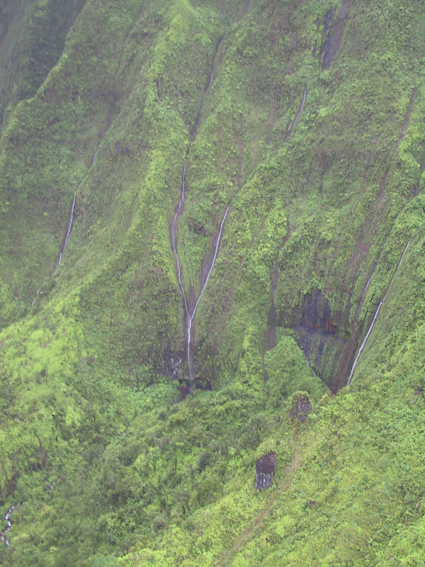 <b>Helicopter view of the walls of Mt Waialeale crater</b>   (Jul 26, 2001, 02:36pm)