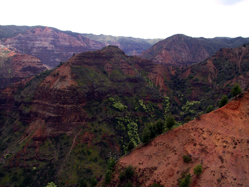 <b>Helicopter view of Waimea Canyon</b>   (Jul 26, 2001, 12:54pm)