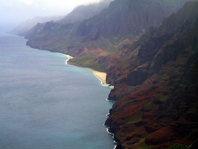 Helicopter view of the Na Pali coast again   (Jul 26, 2001, 01:00pm)