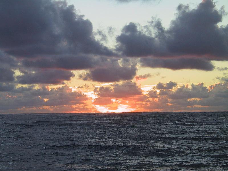 <b>Sunrise from the Pono Kai beach</b>   (Jul 27, 2001, 06:06am)