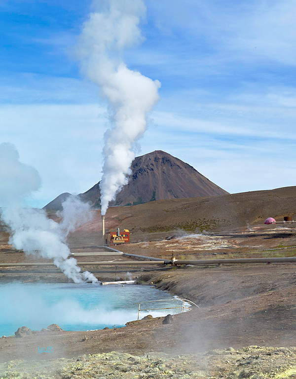Bjarnarflag Geothermal Power Station<br /> <br /> Mývatn is a major source of the geothermal power that heats 99% of the homes in Iceland.<br /> This photo shows part of Bjarnarflag, Iceland's oldest geothermal station (1968).