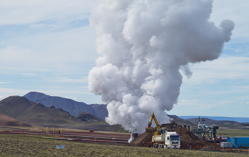 © Robert Will 2013<br /> <br /> According to Icelanders, the Iceland Deep Drilling Project came close to creating their own volcano when their drill bit hit magma and melted. <br /> <br /> Fortunately, they were able to cap the drill hole without incident.
