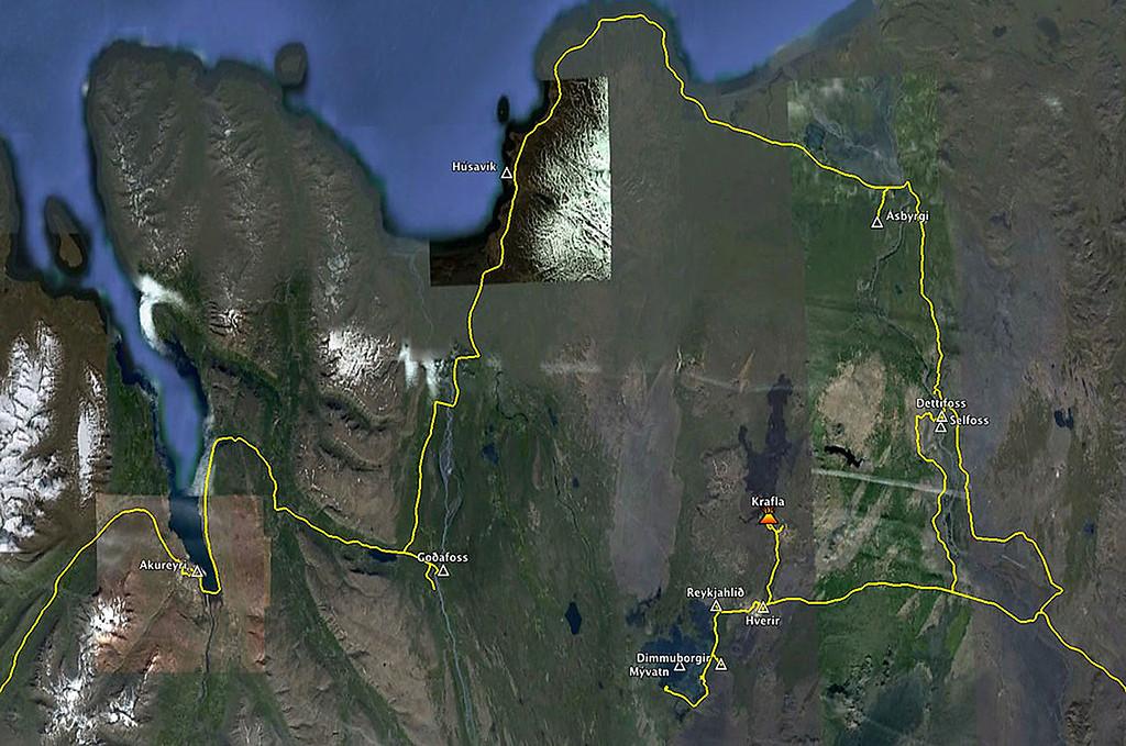 Mývatn to Akureyri via the Diamond Circle