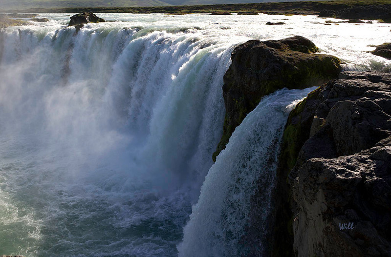"In the year 999, Icelandic lawspeaker, Þorgeir Ljósvetningagoði formally accepted Christianity as Iceland's primary religion when he hurled statues of the Norse Gods into the waterfall at Goðafoss. Goðafoss means literally ""waterfall of the Gods""."