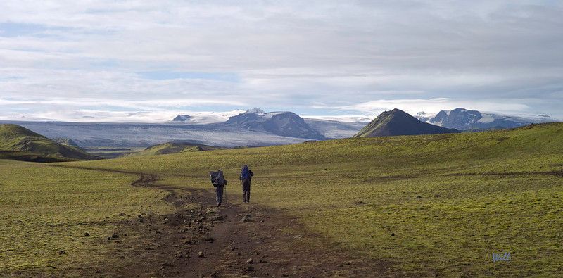 On the trail between Álftavatn and Emstrur.