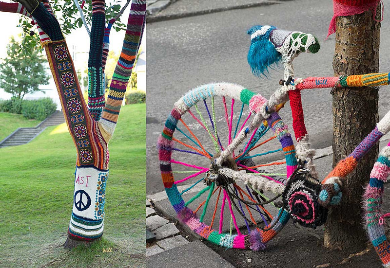 They surely do love to knit in Reykjavik as these photos show.