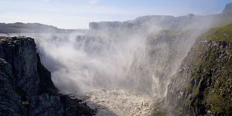 Dettifoss is the most powerful waterfall in Europe (flow approx 193 cubic meters/second). <br /> <br /> Powerful as Dettifoss is, it is a faint echo of the jökulhlaup that created it.
