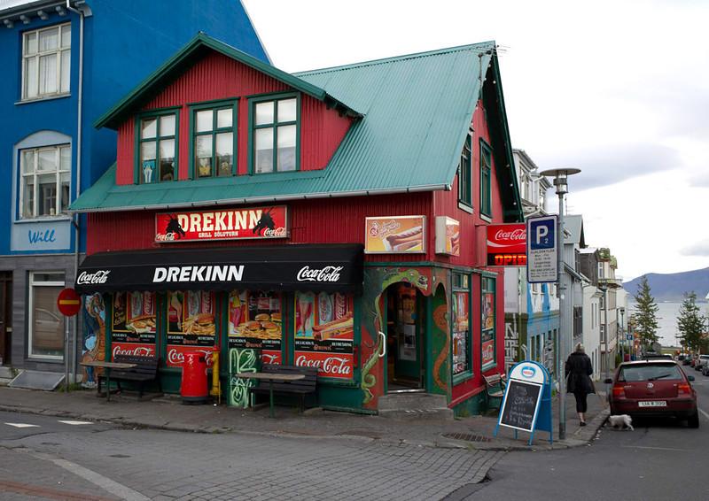 Corner store in Reykjavik.