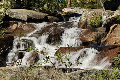 Section of Cascade Falls, leading into Cascade lake (Lake Tahoe).