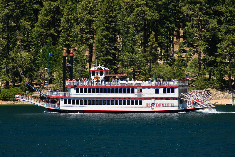 MS Dixie II, paddleboat in Emerald Bay.
