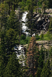 Lower Eagle Falls, leading into Emerald Bay (Lake Tahoe) seen from the lake.