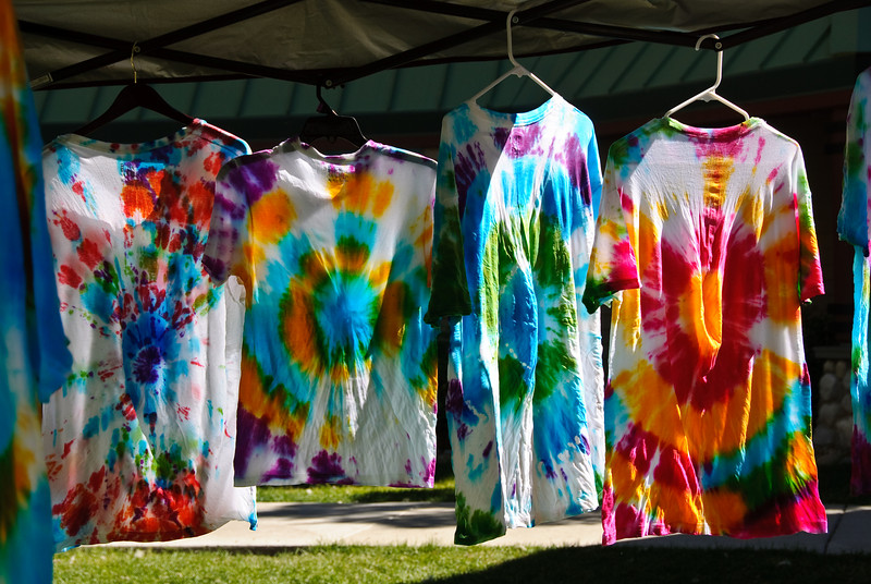 29d333cbb979 Tie dye shrts hanging up to dry. (They look great in the sun