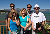 Torin, Heather, Laurie, Damon and Garrett Clark on the Tahoe paddleboat.